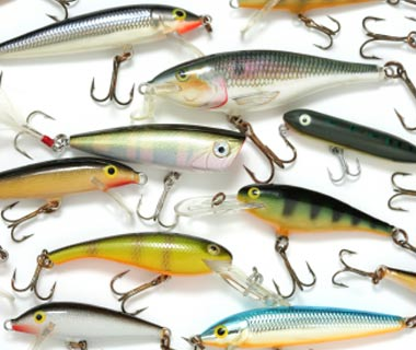 Stock up on lures, tackle and bait